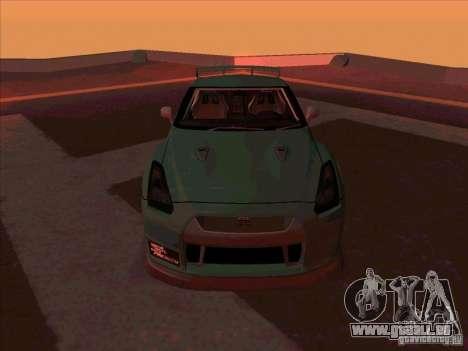 Nissan GT-R R35 rEACT pour GTA San Andreas vue arrière