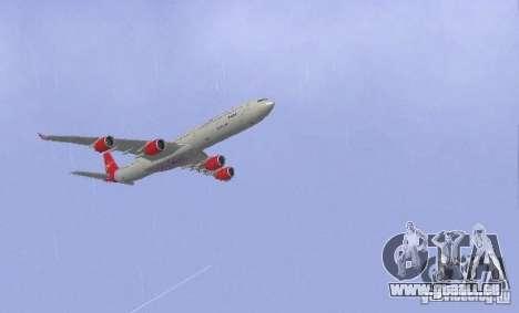 Airbus A340-600 Virgin Atlantic pour GTA San Andreas vue de droite