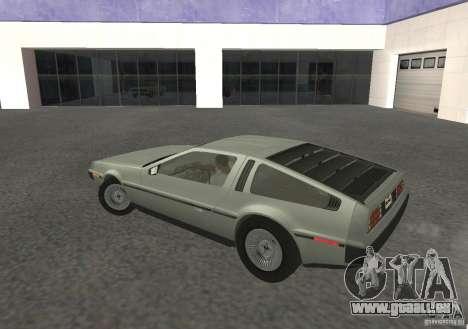 DeLorean DMC-12 pour GTA San Andreas vue de droite