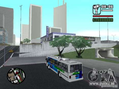 Cobrasma Monobloco Patrol II Trolerbus pour GTA San Andreas laissé vue