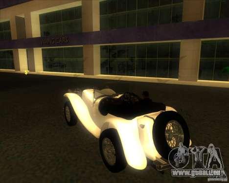 Jaguar SS 100 pour GTA San Andreas laissé vue