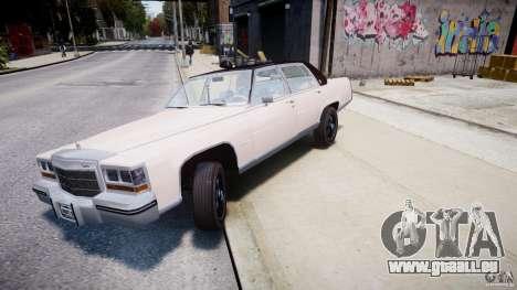Cadillac Fleetwood Brougham 1985 für GTA 4 Innen