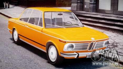 BMW 2002 1972 pour GTA 4 est une vue de l'intérieur