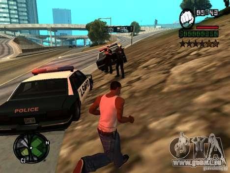 HUD et polices v1.0 pour GTA San Andreas deuxième écran