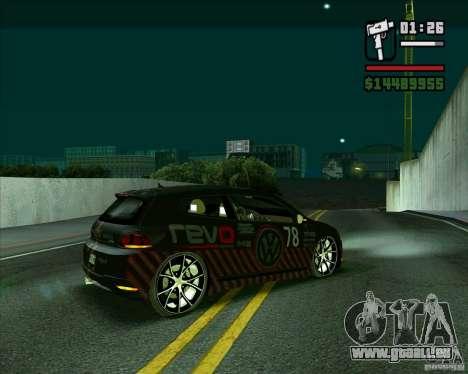 Volkswagen Scirocco 2008 pour GTA San Andreas laissé vue