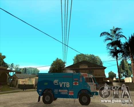 KAMAZ 4911 (2007) Rally Raid version für GTA San Andreas rechten Ansicht