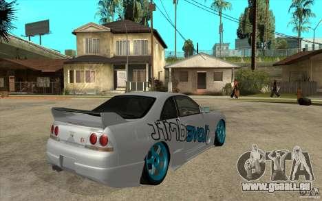 Nissan Skyline R33 Drift pour GTA San Andreas vue de droite