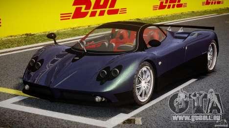 Pagani Zonda F für GTA 4 Rückansicht