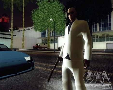Costume blanc pour GTA San Andreas deuxième écran