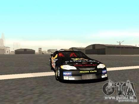 Chevrolet Monte Carlo Nascar CINGULAR Nr.31 pour GTA San Andreas laissé vue