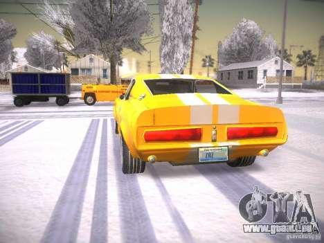 Shelby GT500 Eleanor für GTA San Andreas zurück linke Ansicht