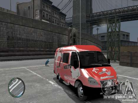 Gazelle 2705 Telkomsel Van für GTA 4 rechte Ansicht