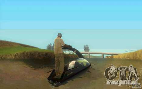 Thruster 87 pour GTA San Andreas sur la vue arrière gauche