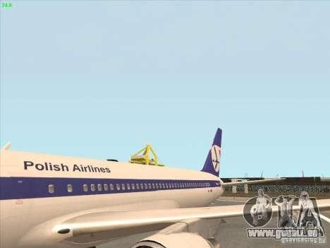 Boeing 767-300 LOT Polish Airlines für GTA San Andreas rechten Ansicht