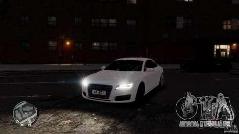Audi A7 Sportback pour GTA 4 est un côté