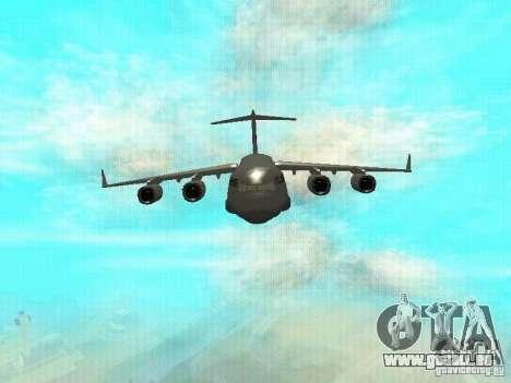 C-17 Globemaster pour GTA San Andreas laissé vue