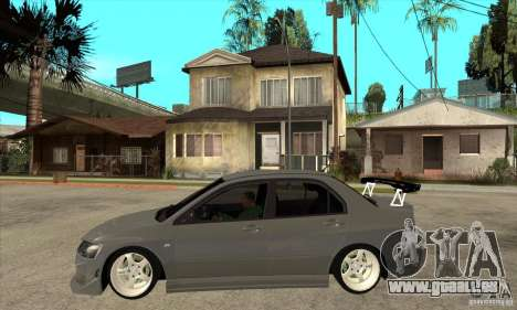 Mitsubishi Lancer Evolution 8 für GTA San Andreas linke Ansicht
