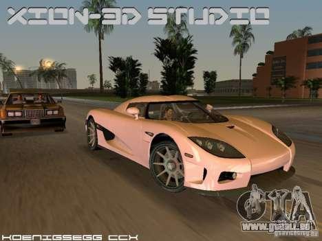 Koenigsegg CCX für GTA Vice City Rückansicht