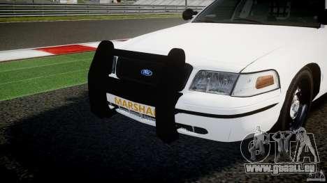 Ford Crown Victoria US Marshal [ELS] pour GTA 4 est une vue de dessous