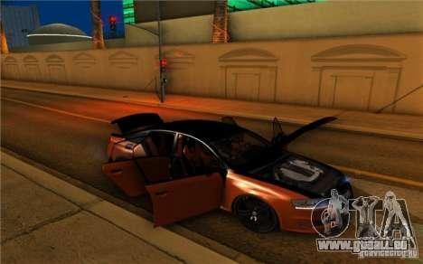 Audi RS6 Black Edition pour GTA San Andreas vue arrière