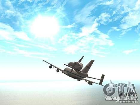 Boeing 747-100 Shuttle Carrier Aircraft pour GTA San Andreas vue de droite