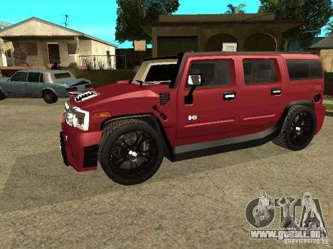 Hummer H2 Tuning pour GTA San Andreas laissé vue
