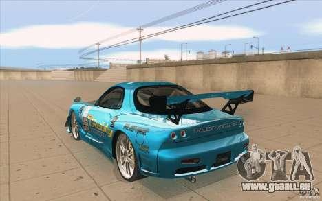 Mazda RX-7 911 Trust für GTA San Andreas zurück linke Ansicht