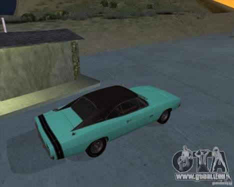 Dodge Charger RT HEMI 1968 pour GTA San Andreas laissé vue