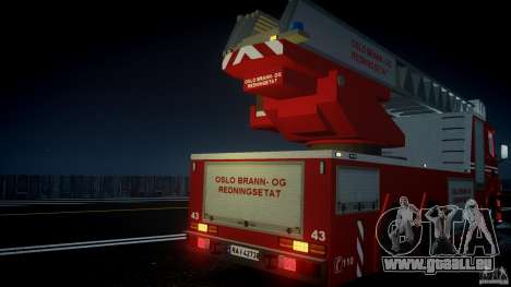 Scania Fire Ladder v1.1 Emerglights blue [ELS] für GTA 4-Motor