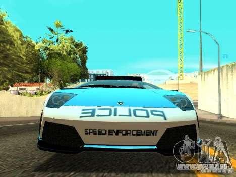 Lamborghini Murcielago LP640 Police V1.0 pour GTA San Andreas vue intérieure