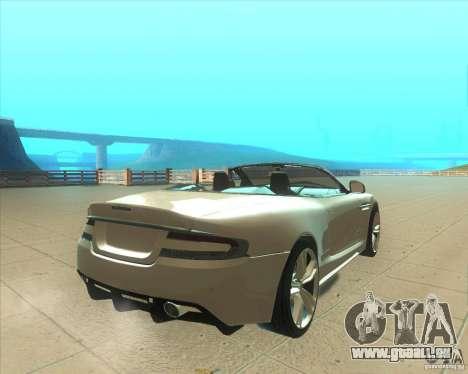 Aston Martin DBS Volante 2009 für GTA San Andreas zurück linke Ansicht