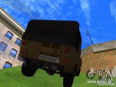 UAZ 460 pour GTA San Andreas laissé vue