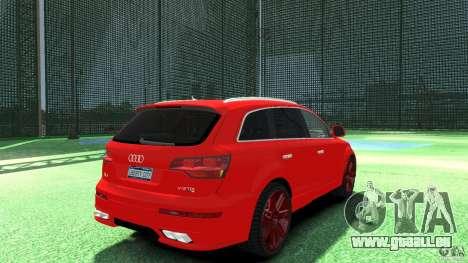 Audi Q7 v12 TDI pour GTA 4 Vue arrière de la gauche