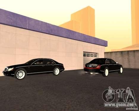 Maybach 57S für GTA San Andreas Innenansicht
