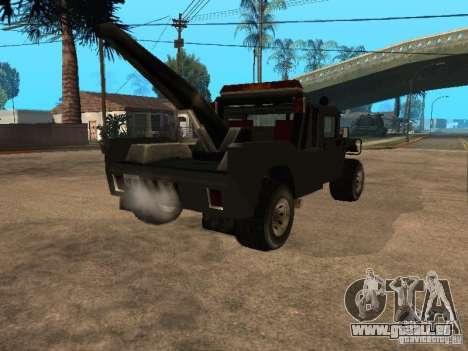 H1 HUMMER-LKW für GTA San Andreas zurück linke Ansicht