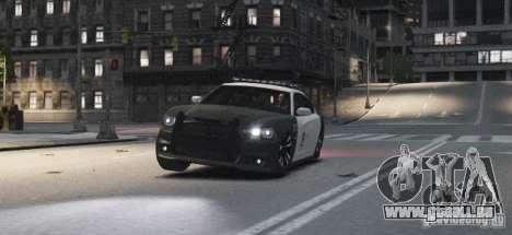 Dodge Charger 2011 Police pour GTA 4 est une vue de l'intérieur