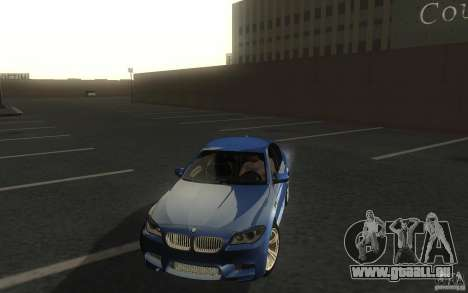 BMW M5 2012 für GTA San Andreas Rückansicht