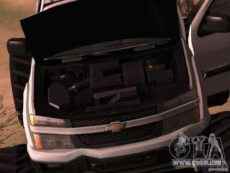 Chevrolet Colorado Monster pour GTA San Andreas sur la vue arrière gauche