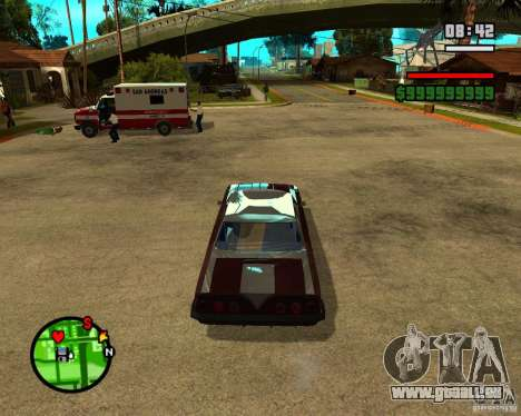Mercury Mascarpone pour GTA San Andreas vue arrière