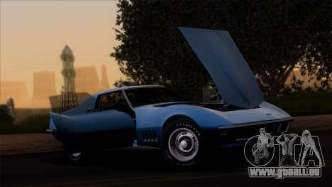 Chevrolet Corvette C3 Stingray T-Top 1969 v1.1 pour GTA San Andreas sur la vue arrière gauche