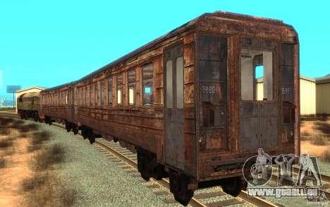 Ein Zug von dem Spiel s.t.a.l.k.e.r. für GTA San Andreas zurück linke Ansicht