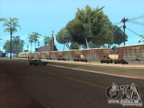 Wagons pour GTA San Andreas sur la vue arrière gauche
