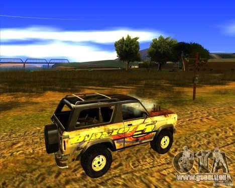 Blazer XL FlatOut2 für GTA San Andreas Innenansicht