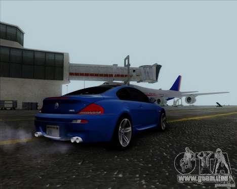 BMW 6 Series M pour GTA San Andreas vue de droite
