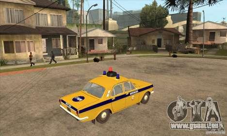 GAZ Volga 2401 Police pour GTA San Andreas vue de droite