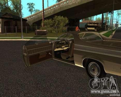 Chevrolet El Camino 1973 pour GTA San Andreas vue de droite