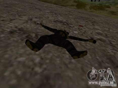 Homme de neige pour GTA San Andreas quatrième écran