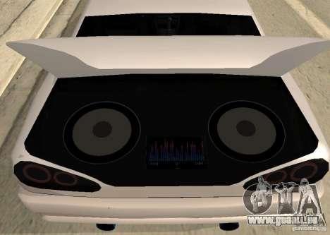Elegy MIX v2 pour GTA San Andreas sur la vue arrière gauche
