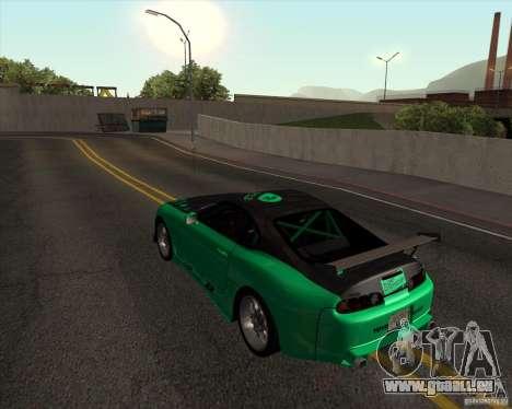 Toyota Supra ZIP style pour GTA San Andreas sur la vue arrière gauche