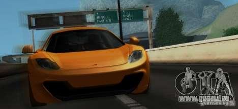 McLaren MP4-12C TT Black Revel pour GTA San Andreas vue de dessous